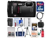 Olympus Tough TG-850 iHS Shock & Waterproof Digital Camera (Black) with 32GB Card + Case + Battery + Tripod + Float Strap + Accessory Kit