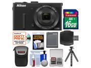 Nikon Coolpix P340 Wi-Fi Digital Camera (Black) with 16GB Card + Case + Battery + Flex Tripod + Accessory Kit