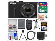 Nikon Coolpix P340 Wi-Fi Digital Camera (Black) with 16GB Card + Case + Battery + Tripod + HDMI Cable + Accessory Kit