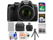 Nikon Coolpix P530 Digital Camera (Black) with 16GB Card + Battery + Case + Flex Tripod + Accessory Kit