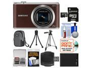 Samsung WB350 Smart Wi-Fi Digital Camera (Brown) with 32GB Card + Case + Battery + Tripod Kit