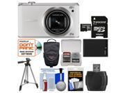 Samsung WB350 Smart Wi-Fi Digital Camera (White) with 32GB Card + Case + Battery + Tripod + Kit