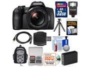 Fujifilm FinePix S1 Weather Resistant Wi-Fi Digital Camera with 32GB Card + Backpack + Flash + Battery + Tripod + Kit