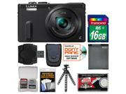 Panasonic Lumix DMC-ZS40 Wi-Fi GPS Digital Camera (Black) with 16GB Card + Case + Battery + Flex Tripod + Kit