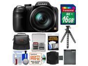 Panasonic Lumix DMC-LZ40 Digital Camera with 16GB Card + Case + Battery + Flex Tripod + Kit