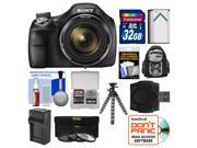 Sony Cyber-Shot DSC-H400 Digital Camera with 32GB Card + Backpack + Battery/Charger + Flex Tripod + 3 UV/ND8/CPL Filter Kit
