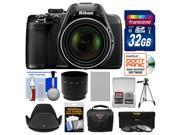 Nikon Coolpix P530 Digital Camera (Black) with 32GB Card + Case + Battery + Tripod + 3 Filters + Hood + Kit