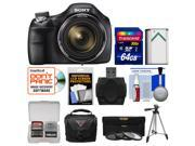 Sony Cyber-Shot DSC-H400 Digital Camera with 64GB Card + Case + Battery + Tripod + 3 UV/ND8/CPL Filters Kit