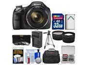 Sony Cyber-Shot DSC-H400 Digital Camera with 32GB Card + Case + Battery/Charger + Tripod + 3 UV/ND8/CPL Filters Kit