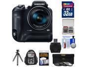 Samsung WB2200F Smart Wi-Fi Digital Camera with 32GB Card + Backpack + Flex Tripod + 3 UV/ND8/CPL Filters Kit