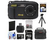Coleman Xtreme3 C9WP Shock & Waterproof 1080p HD Digital Camera (Black) with 32GB Card + Battery + Case + Flex Tripod + Float Strap + Kit