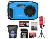 Coleman Xtreme3 C9WP Shock & Waterproof 1080p HD Digital Camera (Blue) with 16GB Card + Case + Tripod + Float Strap + Kit