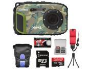 Coleman Xtreme3 C9WP Shock & Waterproof 1080p HD Digital Camera (Camo) with 16GB Card + Case + Tripod + Float Strap + Kit