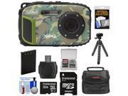 Coleman Xtreme3 C9WP Shock & Waterproof 1080p HD Digital Camera (Camo) with 32GB Card + Battery + Case + Flex Tripod + Float Strap + Kit