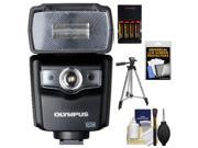 Olympus FL-600R Electronic Flash for Micro 4/3 PEN & OM-D Digital Cameras with Batteries & Charger + Tripod + Accessory Kit