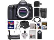Canon EOS 5D Mark III Digital SLR Camera Body with 64GB Card + Grip + Battery & Charger + Case + Tripod + Kit