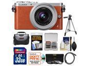 Panasonic Lumix DMC-GM1 Micro Four Thirds Digital Camera & 12-32mm Lens (Orange) with 32GB Card + Case + Tripod + 3 Filters + Kit