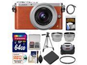 Panasonic Lumix DMC-GM1 Micro Four Thirds Digital Camera & 12-32mm Lens (Orange) with 64GB Card + Battery + Backpack + Filter + Tele/Wide Lenses Kit