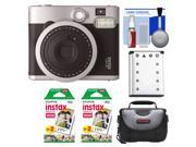 Fujifilm Instax Mini 90 Neo Classic Instant Film Camera with (2) Instant Film + Case + Battery + Cleaning Kit