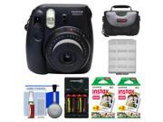 Fujifilm Instax Mini 8 Instant Film Camera (Black) with (2) Instant Film + Case + Batteries & Charger + Cleaning Kit