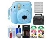 Fujifilm Instax Mini 8 Instant Film Camera (Blue) with (2) Instant Film + Case + Batteries & Charger Kit