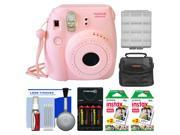 Fujifilm Instax Mini 8 Instant Film Camera (Pink) with (2) Instant Film + Case + Batteries & Charger Kit