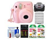 Fujifilm Instax Mini 8 Instant Film Camera (Pink) with (2) Instant Film + Case + Batteries & Charger + Cleaning Kit