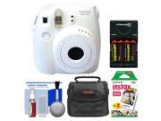 Fujifilm Instax Mini 8 Instant Film Camera (White) with Instant Film + Case + Batteries & Charger + Kit