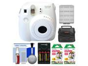 Fujifilm Instax Mini 8 Instant Film Camera (White) with (2) Instant Film + Case + Batteries & Charger Kit