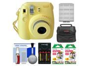 Fujifilm Instax Mini 8 Instant Film Camera (Yellow) with (2) Instant Film + Case + Batteries & Charger Kit