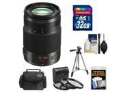 Panasonic Lumix G X Vario 35-100mm f/2.8 OIS Lens for G Series Cameras (Black) with 32GB Card + Case + 3 (UV/CPL/ND8) Filters + Tripod + Accessory Kit