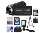 Panasonic HC-V550K HD Wi-Fi Video Camera Camcorder with 32GB Card + Case + LED Video Light + Tripod + Kit