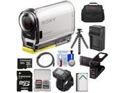 Sony Action Cam HDR-AS100VR Wi-Fi GPS HD Video Camera Camcorder & Live View Remote with 32GB Card + Battery + Charger + LCD Cradle + Case + Tripod Kit