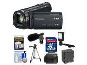 Panasonic HC-X920 3MOS Ultrafine Full HD Wi-Fi Video Camera Camcorder (Black) with 32GB Card + Battery + Case + LED Video Light + Microphone + Tripod + Accessory Kit