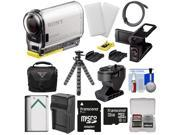 Sony Action Cam HDR-AS100V Wi-Fi GPS HD Video Camera Camcorder with 32GB Card + LCD Cradle + Tilt & Adhesive Mounts + Battery + Case + Tripod + Kit