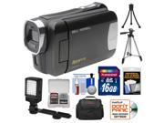 Bell & Howell DNV6HD Rogue Infrared Night Vision 1080p HD Video Camera Camcorder (Black) with 16GB Card + Case + Tripods + LED Light + Kit