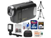 Bell & Howell DNV6HD Rogue Infrared Night Vision 1080p HD Video Camera Camcorder (Black) with 32GB Card + Case + Tripods + LED Light + Kit