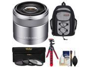 Sony Alpha E-Mount E 30mm f/3.5 Macro Lens with Sling Backpack + 3 UV/CPL/ND8 Filters + Flex Tripod + Kit