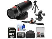 Replay XD Prime X Waterproof Wi-Fi HD Action Video Camera Camcorder with 32GB Card + ATV/Bike Handlebar & Vented Helmet Mounts + Case + Tripod + Kit