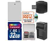 LP E8 Battery Charger 32GB SD Card Essential Bundle for Canon Rebel T3i T4i T5i Digital SLR Camera
