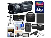 Canon Vixia HF G20 32GB Flash Memory 1080p HD Digital Video Camcorder with 64GB Card + Case + Video Light + Mic + Battery & Charger + Tripod + Lenses Kit