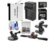 Essentials Bundle for GoPro HD HERO 4 Action Camcorder with 32GB Card + Battery + Charger + Handlebar, Vented Helmet & Suction Cup Mounts + Kit 9SIA63G2EH3088