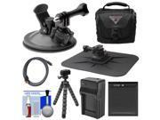 Essentials Bundle for Kodak PixPro SP360 & SP1 Action Camera with Suction Cup & Dash Mounts + LB-080 Battery & Charger + Case + Flex Tripod + Kit 9SIA63G2M15121
