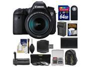 Canon EOS 6D Digital SLR Camera Body & EF 24-105mm IS STM Lens with 64GB Card + Canon Backpack + Battery & Charger + Grip + 3 Filters + Kit