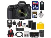 Canon EOS 5D Mark III Digital SLR Camera with EF 24-70mm f/4.0L IS USM Lens & 64GB Card + Batteries + Charger + Backpack + Flash + Grip + 3 Filters + Accessory 9SIAB926483939