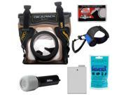 DiCAPac WP-S5 Waterproof Case for Digital SLR Cameras with LP-E8 Battery + LED Torch & Handstrap + Accessory Kit