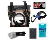 DiCAPac WP-S5 Waterproof Case for Digital SLR Cameras with EN-EL14 Battery + LED Torch & Handstrap + Accessory Kit
