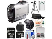 Sony Action Cam FDR-X1000VR Wi-Fi 4K HD Video Camera Camcorder & Live View Remote with 32GB Card + Battery + Case + Tripod + Kit