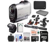 Sony Action Cam FDR-X1000VR Wi-Fi 4K HD Video Camera Camcorder & Live View Remote with 32GB Card + 2 Helmet, Flat & Handlebar Bike Mounts + Battery + Case + Kit
