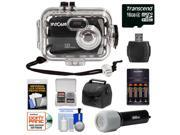 Intova Sport 10K Waterproof Digital Camera with 140' Underwater Housing with 16GB Card + Batteries & Charger + Case + LED Torch + Accessory Kit